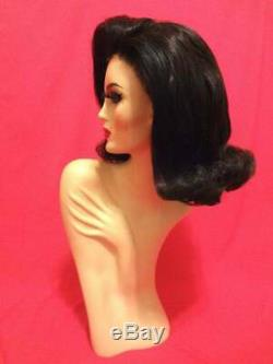 60s JACKIE KENNEDY O. FLIP Wig! Lace Front Custom Costume Drag Brown ALL COLORS