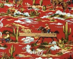 Classic Cowboy Drapes Sold by the Pair Dark Barn Red Cotton custom work ok