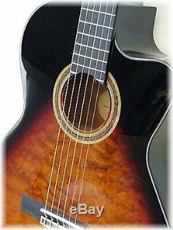 Classical / electric withQuilt maple top in dark sunburst by Dillion One left