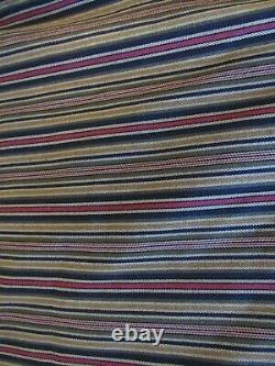 Custom Made Curtain Panels Lined Striped Lot of 6 (52 x 88)