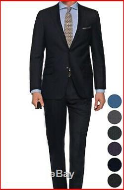 Custom Made Dark Blue Suits Business work formal wedding bespoke tailored Suit