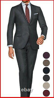 Dark Gray Nearly Black Suits Business work formal tailor made Bespoke Suit