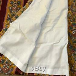 Pair 32 x 99 ea Custom lined drapes curtains panel dark red french provincial