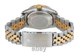 Rolex Datejust Watch, 68273 31mm, Dark Mop Diamond Dial With Twotone Yellow Band