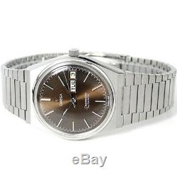 Vintage Omega Seamaster Automatic Day Dark Brown Custom Dial 1020 Cal Mens Watch