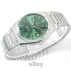 Vintage Omega Seamaster Automatic Day Dark Green Custom Dial 1010 Cal Mens Watch