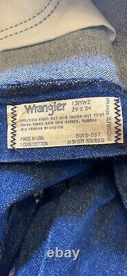 Vintage Wrangler Straight Fit Customized Mens Jeans Leather Fringe Rodeo USA