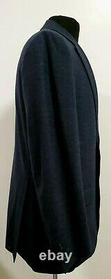 WOw CANALI Mens Dark Heathered Navy Stretch Wool Custom Made Italy Suit 34 36